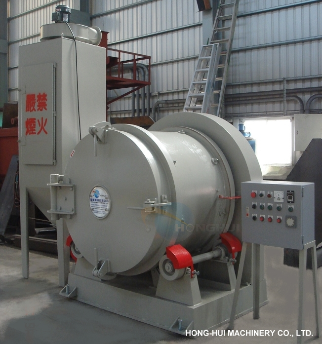 HH-268 ROTATING BARREL SHOT BLASTING MACHINE