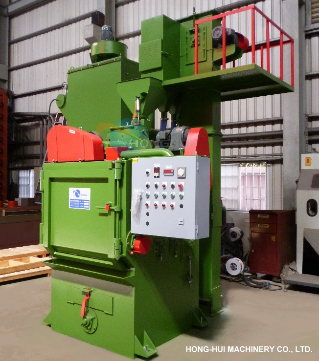 HH-368 TUMBLING BARREL SHOT BLASTING MACHINE
